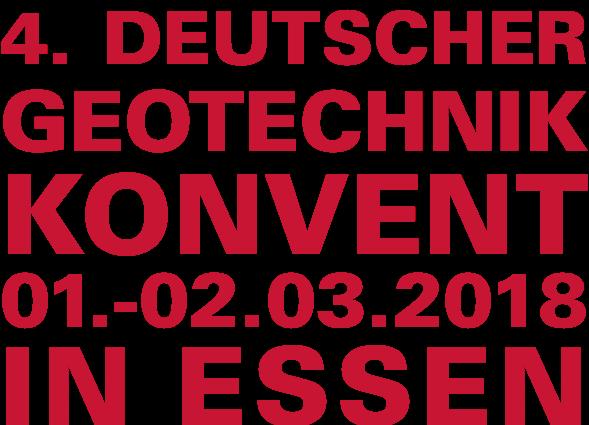 Logo des 4. Deutschen Geotechnik-Konvents