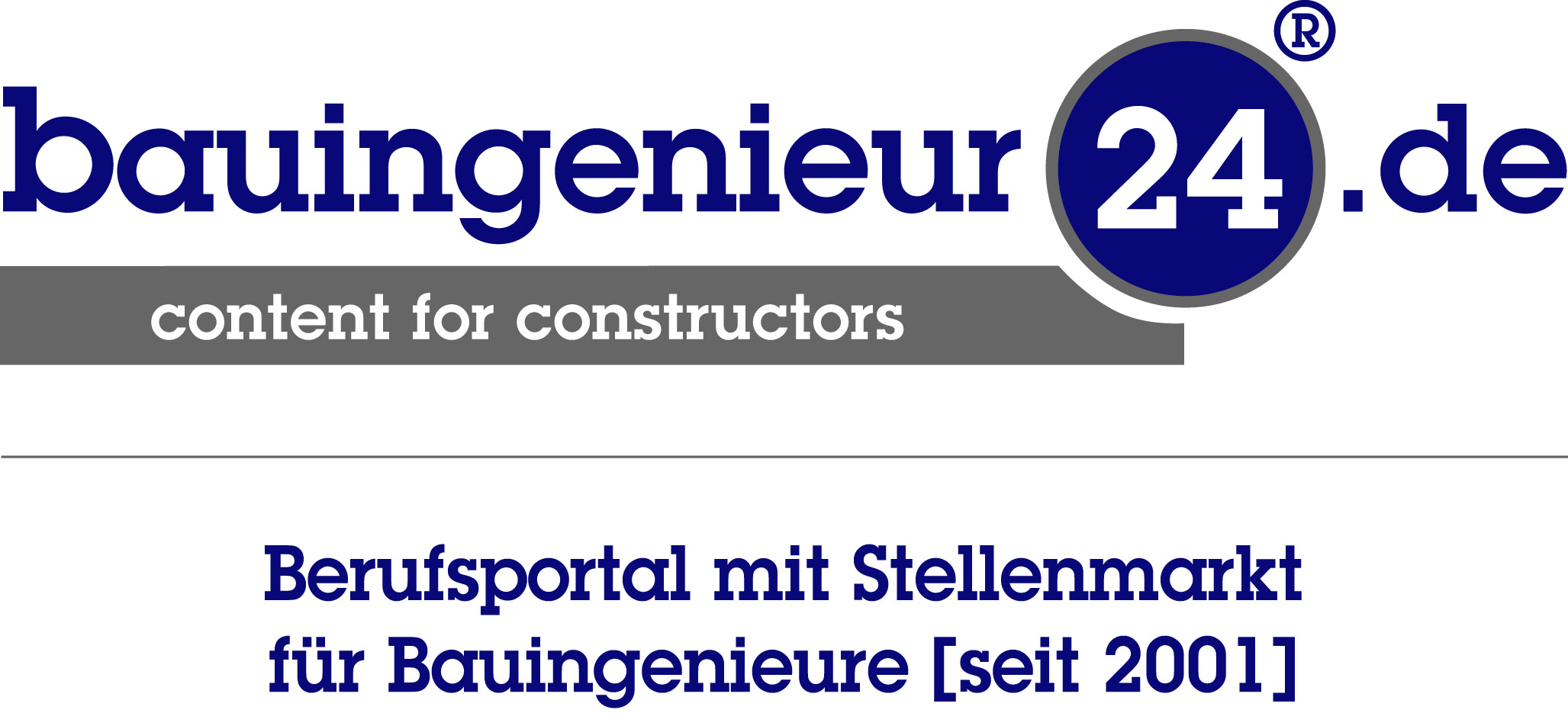 Logo mit Slogan bauingenieur24.de