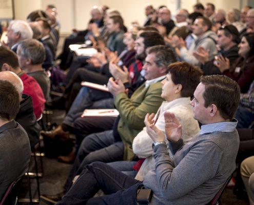 Applaudierendes Publikum beim 3. Deutschen Geotechnik-Konvent